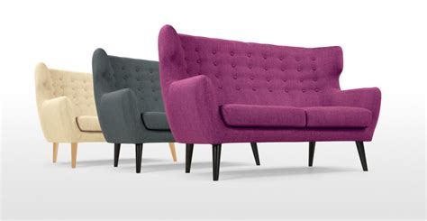 2 seater purple sofa kubrick 2 seater sofa in plum purple made com