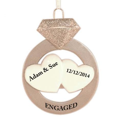 engagement personalized christmas ornament christmas and