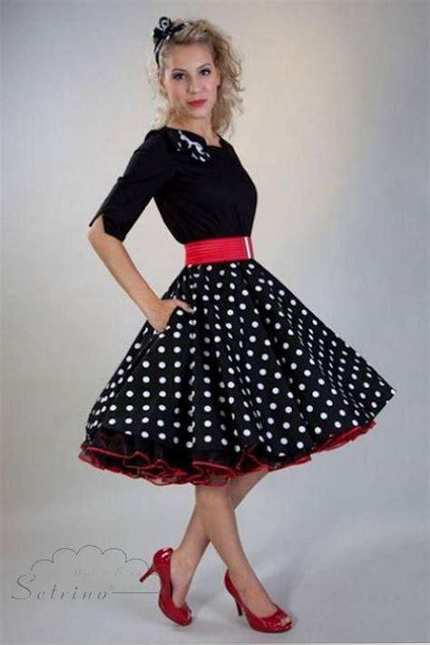 how to dress for swing dancing oberteil mit 196 rmeln und rock mit punkten und petticoat
