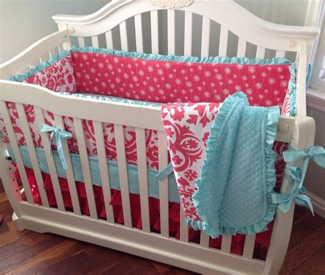aqua baby bedding pink aqua baby girl bedding sadie grace bain pinterest