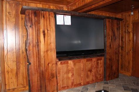 Log Cabin Dining Room Furniture entertainment center live edge and rustic style rustic