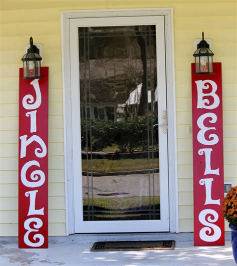 jingle bells hand painted outdoor wooden signs by kcraftz