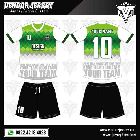 buat desain baju futsal online desain baju futsal millennium green and blue vendor jersey