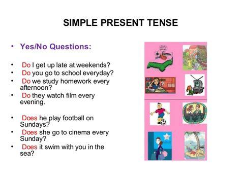 question future simple tense simple present tense present time 2