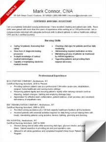 cna resume sle resume exles nursing