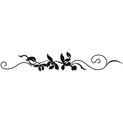 Panoramic Wall Murals string vine wall sticker floral wall art