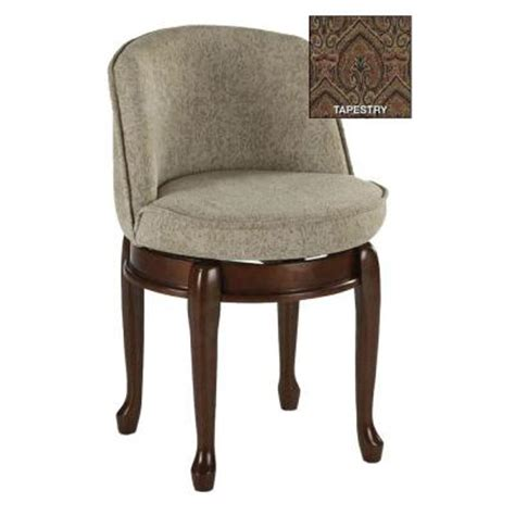 swivel vanity chair with back home decorators collection delmar tapestry high back swivel vanity stool