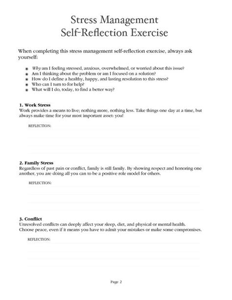 Anxiety Worksheet by Stress Management Worksheet Pdf Stress Management