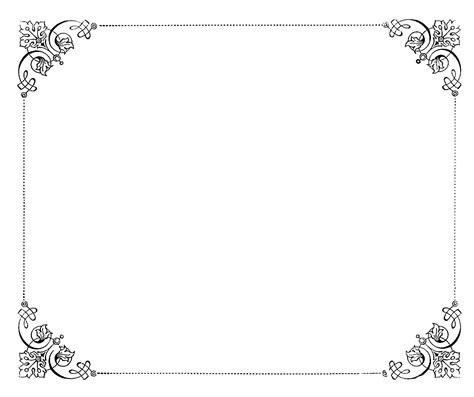 8 5 X 5 5 Fancy Card Border Polka Dot Templates by 8 Fancy Paper Border Designs Images Fancy Frame Borders