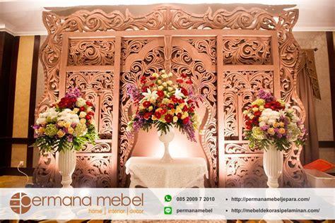 Quality Kemben Busa Bunga 5020 photo booth pelaminan karet gebyok ukir jawa tradisional