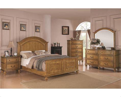 emily bedroom set coaster emily bedroom set in light oak co 202571set