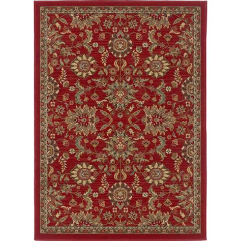 Tayse Rugs Laguna Red 5 Ft X 7 Ft Transitional Area Rug Transitional Area Rugs
