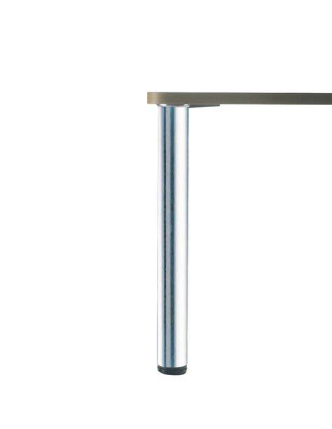 plan de travail snack 607 zdn pr608 057 pied de table rond en acier aspect inox h