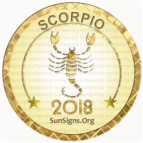 scorpio horoscope 2018 predictions sun signs