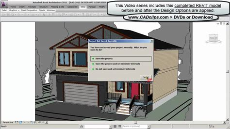 revit tutorial design options cadclip revit design options online revit training