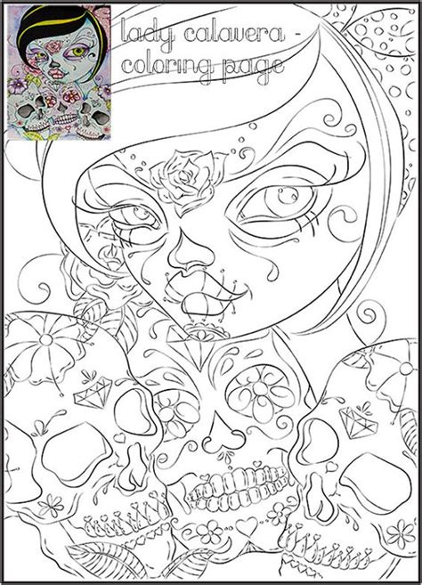 day of the dead art coloring pages day of the dead art coloring page adult coloring page