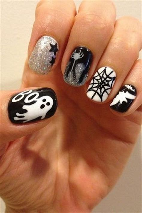 Fingernail Designs by 50 Spooky Nail Designs For Creative Juice