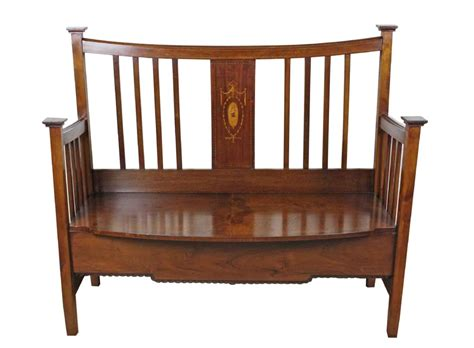 arts and crafts bench antique arts and crafts inlaid bench settle 259829