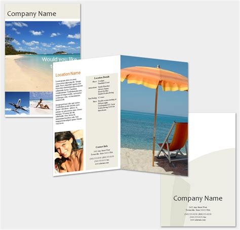 templates for making brochures free travel brochure template
