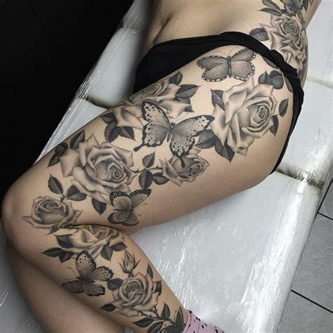floral thigh tattoo designs best 25 flower leg tattoos ideas on anchor