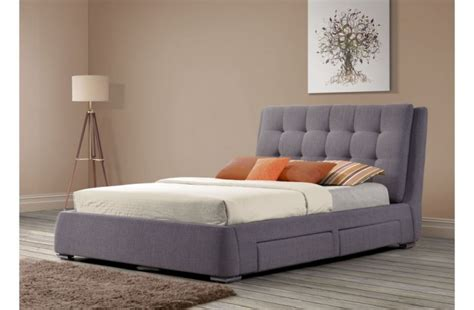 Fabric Bed Frame With Drawers Birlea Mayfair 6ft Kingsize Grey Fabric Bed Frame