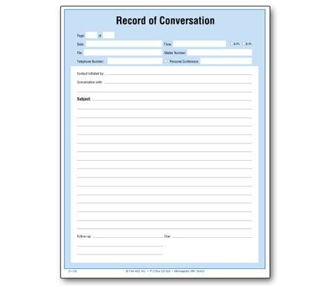 Record Of Record Of Conversation Item 21 100