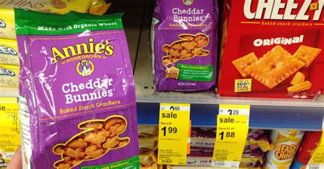 Cheddar S Gift Card Walgreens - annie s cheddar bunnies only 0 98 at walgreens you saved how much