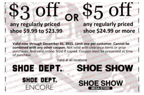 shoe dept encore online coupons