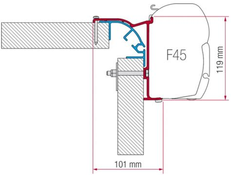 Fiamma Awning F45 Accessories by Fiamma F45 Awning Adapter Kit Bailey Mk 2 Awning