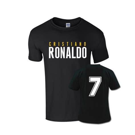 Tshirt Ronaldo Black cristiano ronaldo front name t shirt black