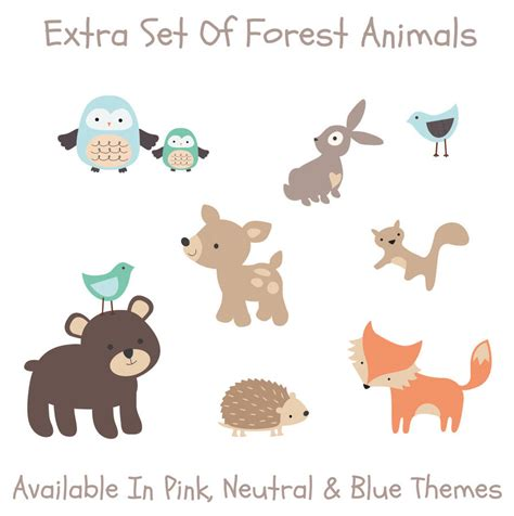 Large Nursery Wall Stickers pastel forest friends wall stickers by parkins interiors