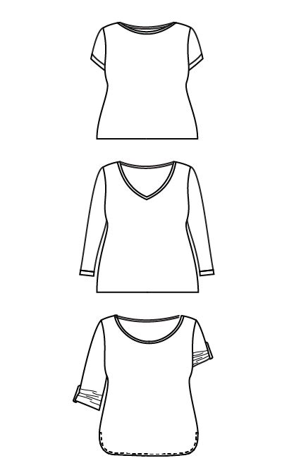 t shirt paper pattern cashmerette concord t shirt paper sewing pattern wesewretro