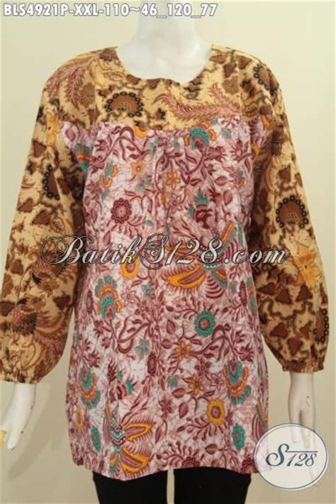 desain baju batik buat orang gemuk baju blus desain terbaru dengan bahan adem ukuran xxl