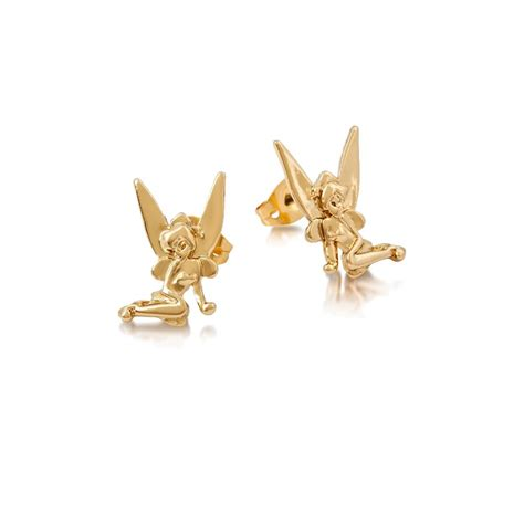 Disney Couture Tinker Bell Bamboo Earrings disney couture tinkerbell gold earrings at jewellery4