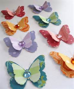 handmade butterfly embellishments scrapbooking by