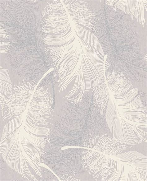 Coloroll feather lilac wallpaper inspired wallpaper