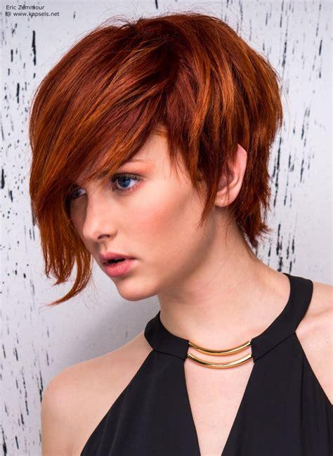 black hair styles for 2015 with one side shaved rood haar in een jongensachtige korte snit met