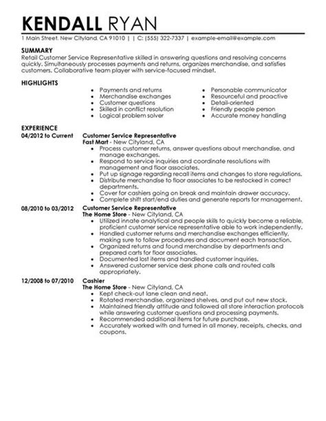 Exles Of Customer Service Resumes by How To Create An Impressive Customer Service Resume