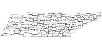 Tennessee Map Counties by Map Of Tennessee