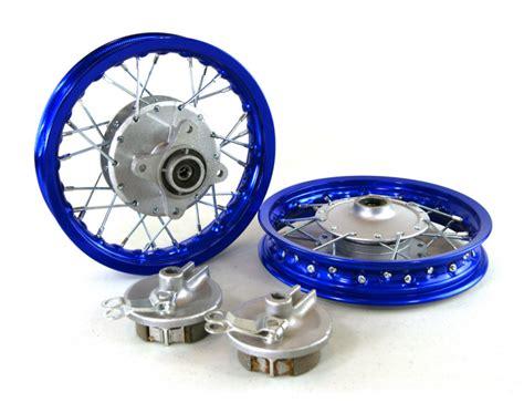 honda crf50 rims 10 quot blue aluminum wheels honda crf50 whs 3036 wheels