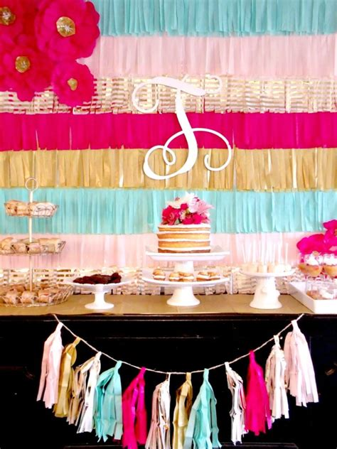 backdrop design party diy fringe decor exceptional idea for a lively home