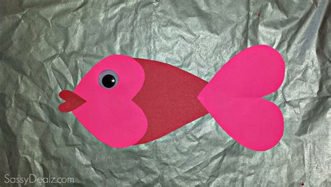 valentines day fish fish craft for crafty morning