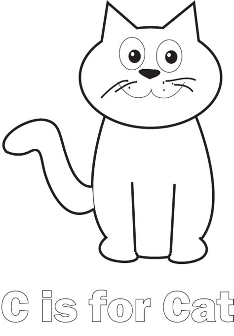 letter c caterpillar coloring page c is for cat coloring page cats pinterest cat