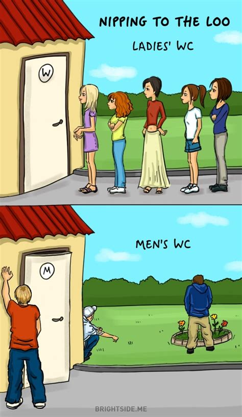 funny comics showing  difference  men  women