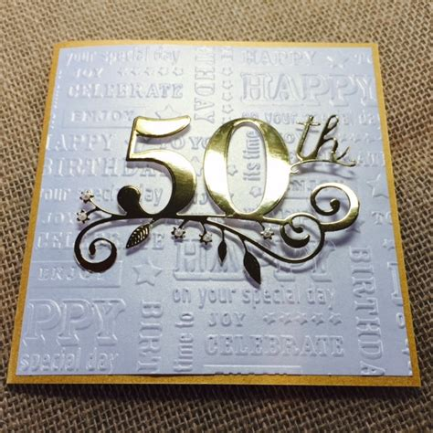 Handmade 50th Birthday Cards - 50th birthday card handmade golden birthday card happy