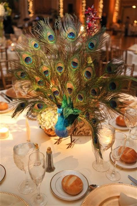 52 best images about Peacock centerpieces on Pinterest