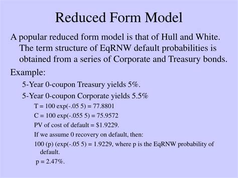 Credit Reduced Form Model Ppt Predicting And Valuing Default Powerpoint Presentation Id 7010947