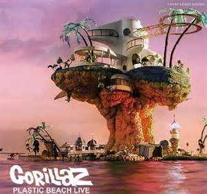 Pearl Gray Bathroom - gorillaz plastic beach album cover