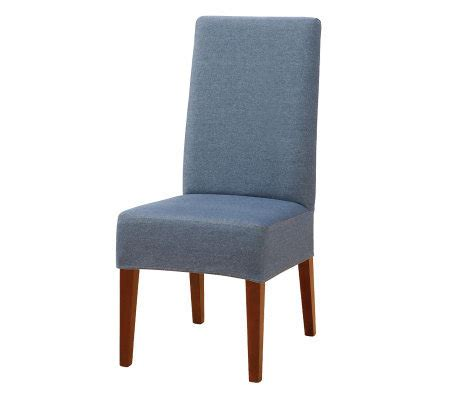 Fitted Dining Room Chair Covers Sure Fit Denim Dining Room Chair Cover Qvc