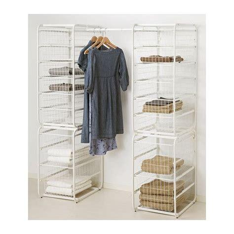 ikea algot wardrobe algot frame wire baskets rod narrowboat bedroom